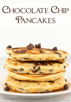 Yummy Pancake Recipe, Tasty Pancakes, Pancakes And Waffles, Yummy Food, Chocolate Pancakes, Homemade Pancakes, Buttermilk Pancakes, Chocolate Chip Pancake Recipe Bisquick, Chocolate Cake