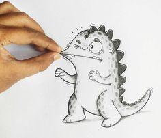 Já imaginou ter uma ilustração como animal de estimação? Conheça o Drogo, um simpático dragão ilustrado que interage com o ambiente em sua volta (e principalmente com seus donos).