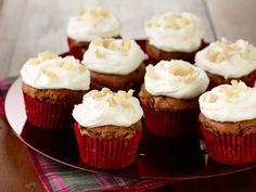 Gingerbread Cupcakes with Orange Icing