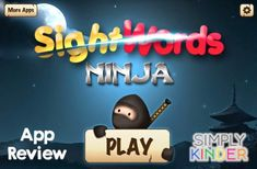 Amazing & Free Sight Word Ninja App - Simply Kinder