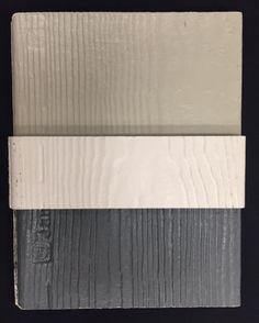 Exterior Siding Colors: top- main siding color, middle- trim, bottom- accent siding color