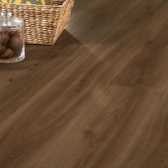Warm Oak 24867 Waterproof Floor Panel (4.5mm x 191mm x 1.3m x 7 | Clever Click)  Wood effect flooring ideal for waterproof flooring in bathrooms and kitchens.
