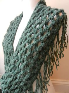 Infinity Scarf,  Forest Green by Sewstacy on Etsy