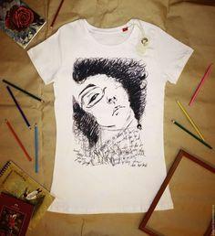 Купить Футболка женская Art - рисунок, принт на ткани, принт, печать на ткани, печать на футболках