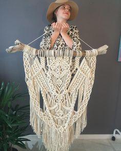 Bali Decor, Macrame Art, Chrochet, Perler Beads, Knitting Projects, Textile Art, Bohemian, Textiles, Diy Crafts