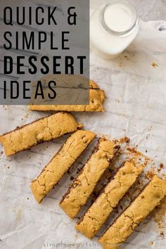 Here are my favorite dessert recipes.  Quick and simple they are real crowd pleasers.  Whether you love cookies or cakes, these simple desserts are sure to make your family and friends beg for more!  Beginner bakers, these recipes are for you! #simplebaking #easydessert Chocolate Chip Cookie Bars, Chocolate Chip Banana Bread, Easy Desserts, Dessert Recipes, Simple Baking, Simple Snacks, Sweet Stuff, Sweet Recipes, Yummy Treats