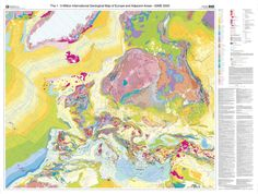 THE 1:5 MILLION INTERNATIONAL GEOLOGICAL MAP OF EUROPE AND ADJACENT AREAS, December 2005, Coordinator of the map Dr. Kristine Asch. The map shows the geological configuration of Europe in both, onshore and offshore areas which allows a continuous reading of the territory while depicting a less familiar configuration of Europe.