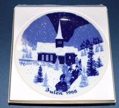 Porsgrund Norway Julen 1968 Church Scene Christmas Plate #babescollectibles