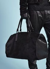 AW12 - Topman Design AW12 / TMD Black Faux Pony Skin Holdall  http://tpmn.co/QmBDbK