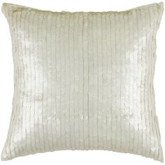 """Rizzy T03063: 18"""" x 18"""" Sequins White/off white"""