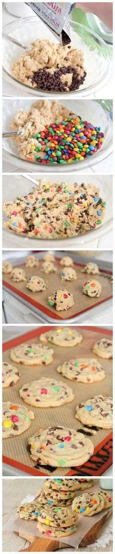 Perfect Subway Style M & M Cookies. Spent Ages Looking For The Subway Recipe!! Finally This Is As Close As It Gets
