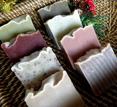 Christmas Soaps Natural Vegan Handcrafted www.homemadesoapnsuch.etsy.com