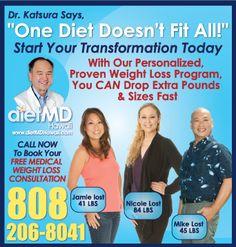 #dietmdhawaii #hawaii #weightloss #weightlosshawaii #weightlossdoctor #weightlossphysician #physiciansupervisedweightloss