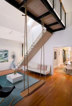 swing! 19th century Victorian style house San Francisco // mork ulnes
