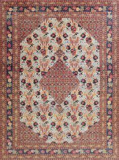 Fine Antique Persian Tabriz Carpet 47458 Main Image - By Nazmiyal