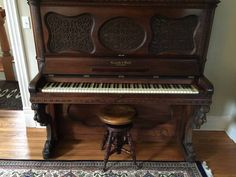 Vintage upright Kranich & Bach piano. So beautiful!!