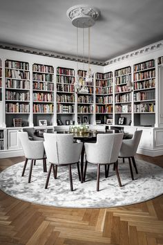 Dining Room Decor ideas for decorating living room dining room combo Home Library Design, Room Interior Design, Dining Room Design, Home Interior, House Design, Dining Living Room Combo, Home Library Decor, Cozy Library, Dining Room Office