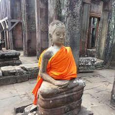 One of the Buddha Sculptures found at Bayon Temple