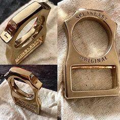 Instagram photo by farnfew - Clean detail in the @speakeasyoriginal Opener/Ring. #PunchRing #Knuck #Knucks #Bronze #speakeasyoriginal #keychain #edcdaily #EDC #everydaycarry #edcpocketdump