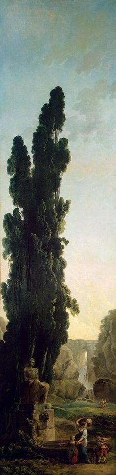 Cypresses by Hubert Robert (French 1733-1808)