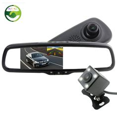 5 Inch 800*480 LCD Novatek 96658 Bracket Rearview Mirror Monitor Full HD 1080P DVR Video Recorder Dual Lens Camara for Nissan