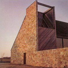 """Cubic Products on Instagram: """"Becker House Wainscott, NY Norman Jaffe 1969"""" Sustainable Architecture, Residential Architecture, Contemporary Architecture, Interior Architecture, New Urbanism, Small Buildings, Brick And Stone, Stone Houses, Brickwork"""