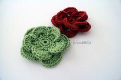 Free Crochet Flower Pattern and Video Tutorial
