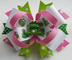 Frog Boutique Handmade Hair Bow