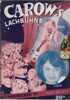 Programmheft. Carow´s Lachbühne, Variete Zirkus Kabarett, Carow, Erich,  02.1936
