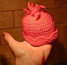 Ravelry: Baby Frou-Frou Preemie Hat pattern by Janet Brani