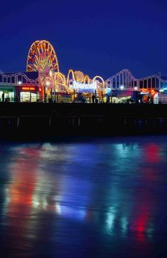 Santa Monica Pier at night in the summer is also a favorite place, I love being near the ocean and there are fun things to see and do