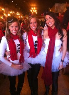 Christmas Bar Crawl...can use white LS body suit, fleece lined leggings