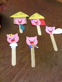 This little Piggy went to market craft- use to retell the rhyme