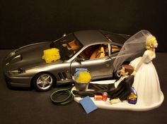 This is too perfect, even same color as Ryan's!  AUTO CAR Wash Ferrari 550 Maranello Bride and Groom by mikeg1968, $98.99