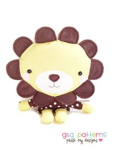 Hey, diesen tollen Etsy-Artikel fand ich bei https://www.etsy.com/de/listing/91341216/lion-sewing-pattern-tiny-plush-toy-lion