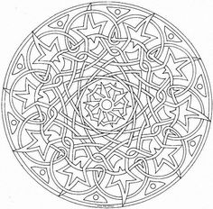 This expert Mandala coloring sheet is a fun design and super challenging to color. Mandala coloring page can be decorated online with the . Detailed Coloring Pages, Mandala Coloring Pages, Coloring Book Pages, Printable Coloring Pages, Mandala Pattern, Zentangle Patterns, Zentangles, Flylady, Colouring Pics