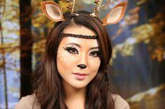From Head To Toe: Deer Makeup Tutorial   Halloween 2013