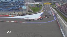 Turn 1 of the Russian Grand Prix
