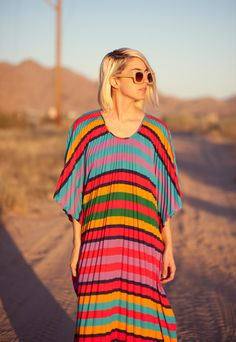 A retro '60s caftan makes a perfect poolside cover-up