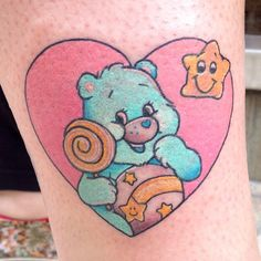 Care Bear by Meri. Trece Tattoo Málaga (Spain)