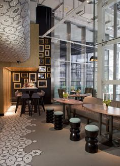 Restaurant and Bar Design Awards - Entry 2011/12 (I love how the design for the ceiling is run to the floor)