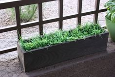 Create a gorgeous contemporary wood planter box for your home or garden