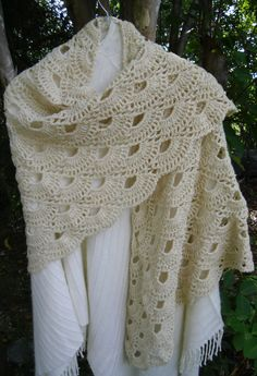 Items similar to Crochet shawl shoulder cover Mother's Day Grandmother's Day gift in cream on Etsy Crochet Shawls And Wraps, Crochet Poncho, Crochet Scarves, Crochet Clothes, Hand Crochet, Crochet Hats, Granny Square Crochet Pattern, Crochet Patterns, Grandmother's Day