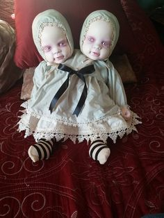 Siamese Twins Art Doll by TamMaggard