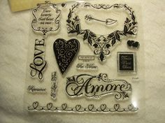 Items similar to Clear Stamp Piece Set of Very Elegant and Beautiful LE Clear Romantic Stamp Set Amore on Etsy Chalk Ink, Clear Stamps, Anniversary Cards, Scrapbooking, Valentines, Romantic, Tools, Elegant, How To Make