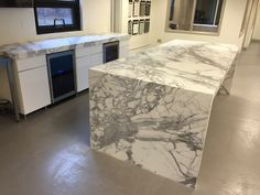 Calacatta Mitered On 4 Sides With Waterfall Edge On Both Ends | More Great  Marble Projects. Kitchen CountertopsCalacattaWaterfallsMiamiMarblesKitchen  ...