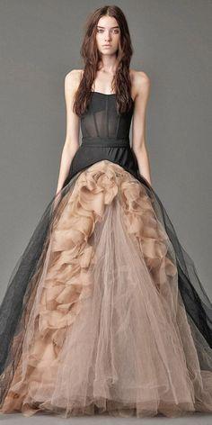 Vera wang black and nude wedding dresses / http://www.himisspuff.com/black-wedding-dresses/