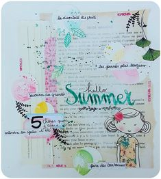 Page de Art Journal / Atelier Elisa .P