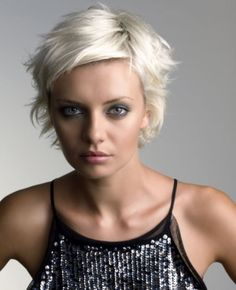 Fab short blond hair