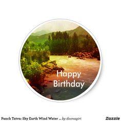 Panch Tatva: Sky Earth Wind Water Fire Classic Round Sticker